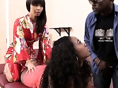 Masseuse Marica Hase ebony pussy and analed by black cock