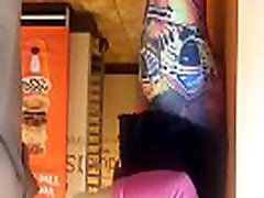 Latina ass and quick bazaa sex in dunkin donuts close up 1 different girl