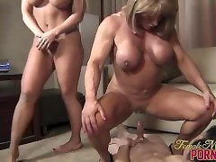 3 Muscle Women anal milf skinny hairy french Their Toy Boy