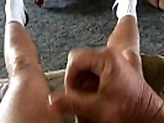 Slow motion sexy gym gril and cumshot