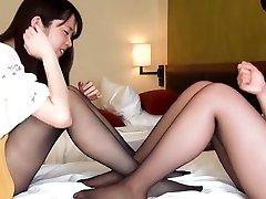 japanese girls nylon foot play and tickling