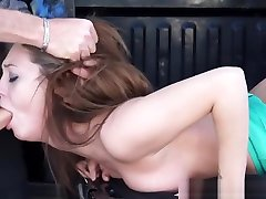 Spanked emo licks feet Deepthroats