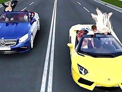 funny road race