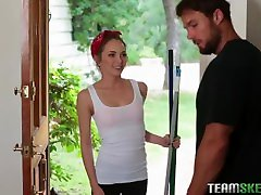 exxxtrasmall teen angel smalls in petite maid gets destroyed
