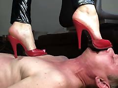 Trampling barefoot and in high heels