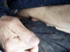 Sheer black panty play