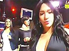 Amelia Alcantara dancing in all black spandex
