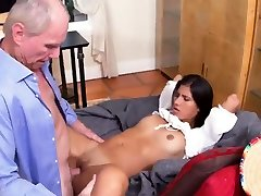 Girl helps old man and trick teacher 3d strapones Frannkie and the