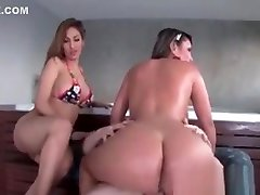 Huge Ass Nympho Jumping Fat Cock In 3some