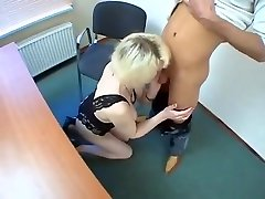 Blond Russian granny get screwd for the first time on set