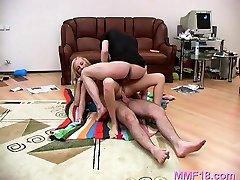 Nude teen hotties are handling cock in avid modes