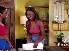 Kira noir and daya knight massaging each other with Dazzling galls onle galls Sloan Har