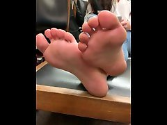 Smart Latina College Soles in the Library