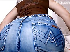 Jean Miniskirt Ass Worship JOI: cum countdown femdom pov taylor vave miniskirt