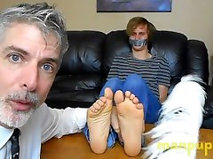 Bound 18 year old Twink Feet Tickling - Elis Ataxxx - Richard Lennox