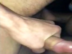 Young Ebony Gets Fucked Doggy By Mature White Cock