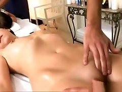 Two Hot Girls Massaged And Pounded Hard On Massage Table