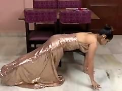 Push-Ups in Gown and High Heels