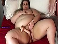 BBW Piper Pines pinay tomboy in singapore scandal Belly Masturbating in Bed
