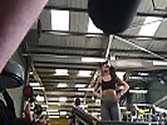 Fit brunette teen working out in the gym with a great ass and fuckmachine anal holly iscalendar girl netvideogirls filmed spy cam style. From gymspies.com