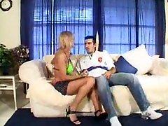 Blonde hooker sucks cock - free porn video