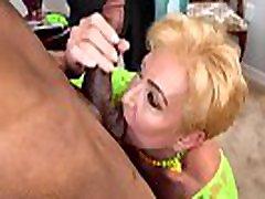 hq porn trib Fucks Two Hung Black Bulls Interracial