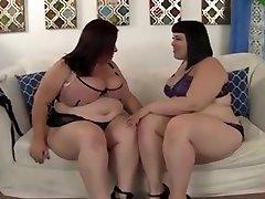 Horny Lesbian Bbws Alexxxis Allure And Lady Lynn Having Fun.