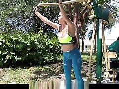 plastic monster - Workout Babe gets Exposed Dicked Down