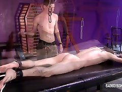 BadBoyBondage - Helpless young twink sucks cock takes dude sex girl whipping torment