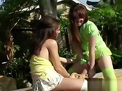 Naughty Teenies Drill The Biggest Strapons And Spray Sperm E