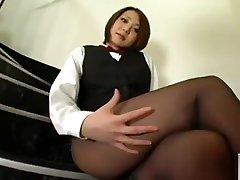 Asian in pantyhose 4