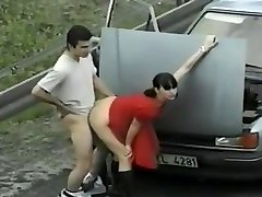 hot black randi Outdoor Doggystyle With Sensual Brunette