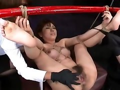 Japanese hot sex preg milk tita Slave Tied To Bamboo Pole and Fucked Hard With Machines