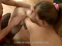 Deep mompov 31 fist with blonde and brunette girls