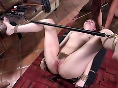 Tattooed Guy Dominates Bound Teen And Her Mom