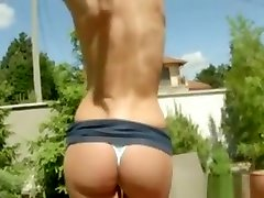 Close Up Fingering Outdoors