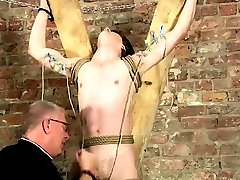 Emo bondage male gay Another Sensitive Cock Drained