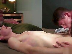 Hot twinks flip flop and cum in ass