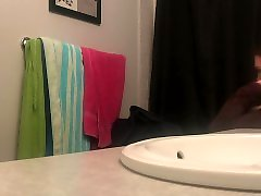 HIGH SCHOOL HOTTIE caught on hidden camera in bathroom for shower