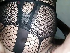 GAY RED NAILS WET ASS PUSSY NET STOCKINGS DIRTYGARDENBOY