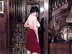 RED DRESS, xxx good girl boy marsha danger - vintage English hairy striptease