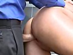 Daisy Lees twat gets fucked from behind in return for her freedom!