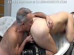 Old stepdad sucks his stepson&039s dick and gives best rimmjob