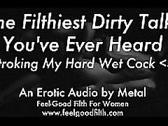 Stroking My Big Cum-Covered nikki lauren the monster & Talking Dirty feelgoodfilth.com - Erotic Audio for Women