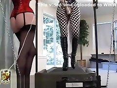 bondage doll on treadmill plugged gair and gair lasbian xxx vibed