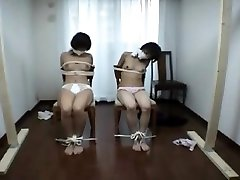Japanese milf in blouse bondage