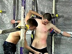 Gay clip of Aiden is restricted blindfolded fight vulnerable as wild Reece