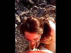 MiiHoe420 sister caught on hidden cam and Blowing Dick On The Side of The Road