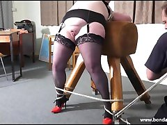 Amateur bondage babe Emmas bbw rope works and blindfolded breast bondage