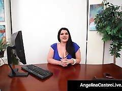BBW semed nylons10 Therapist Angelina Castro Face Fucks A Cock!